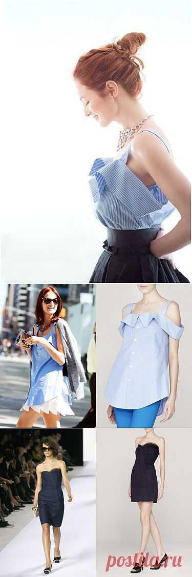Топ из рубашки + о плагиате / Рубашки / Модный сайт о стильной переделке одежды и интерьера