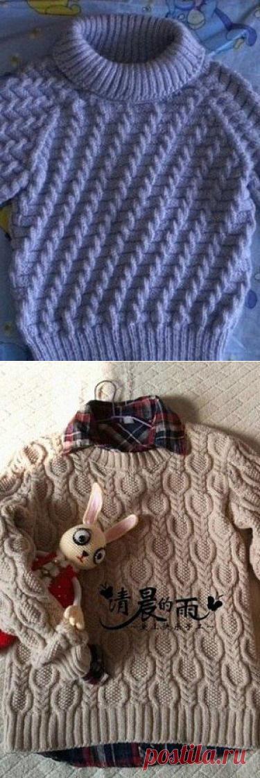 Восхитительные узоры для кофт и свитеров