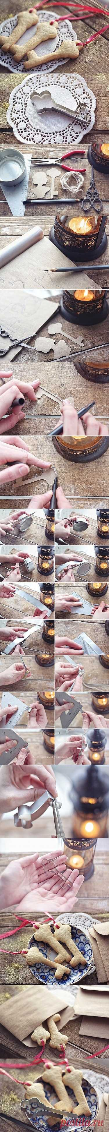 Como hacer por su propia mano cualquier molde para las galletas.