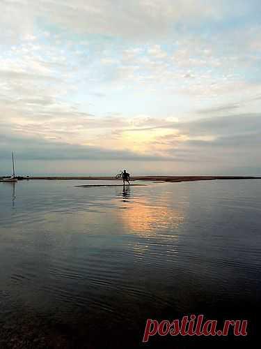 Утром ранним, яхтенный поход, облака, туризм, вода, море, 08 июня 2013