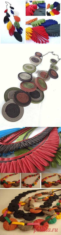 Несколько украшений из ткани / Украшения и бижутерия / Модный сайт о стильной переделке одежды и интерьера