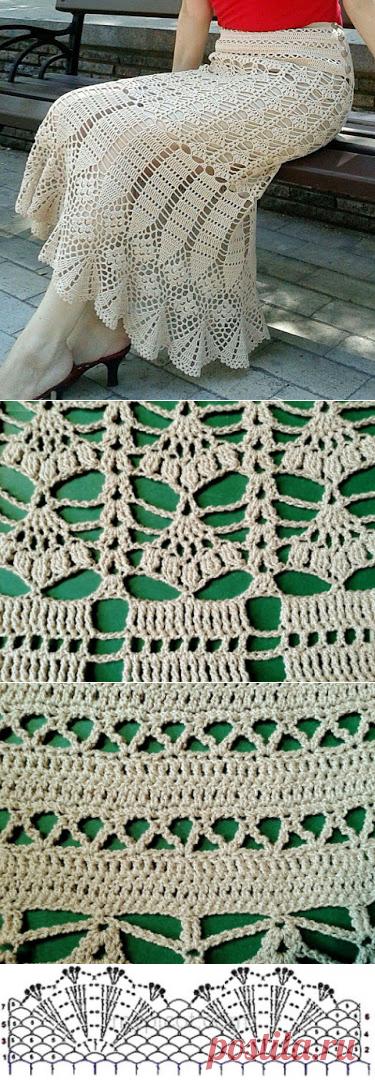 ec44fc168 Saia em Crochê com Gráficos - Katia Ribeiro Crochê Moda e Decoração ...
