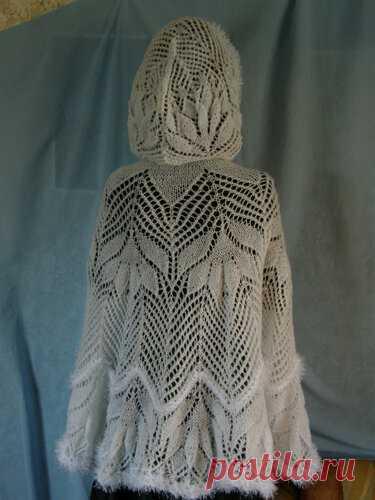ОНЛАЙН ТЕМА .Описание для шали .Описание накидка «Снежная королева»