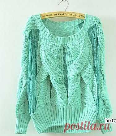 Интересный свитерок / Вязание / Модный сайт о стильной переделке одежды и интерьера