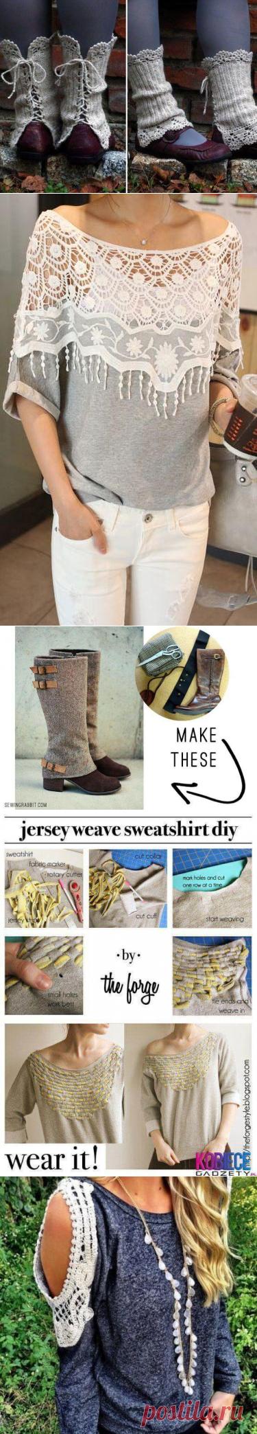 Не выбрасывайте старые свитера - море идей для переделки! | Тысяча и одна идея