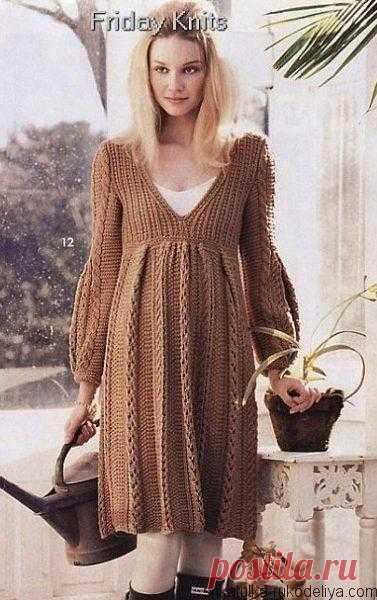 платье спицами для беременных вязание для беременных по схемами