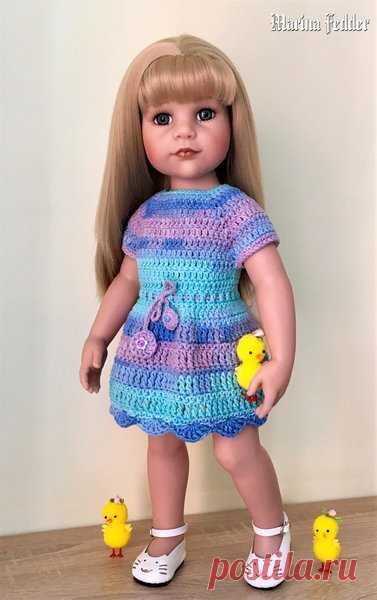 Платье для куклы Gotz. Мастер-Класс. | Талант вязать | Яндекс Дзен
