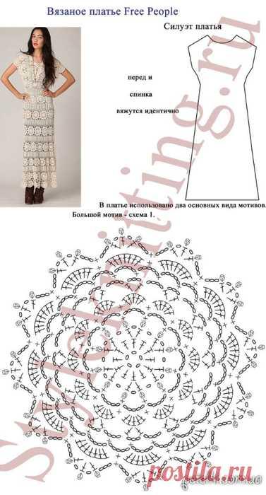 Вязание крючком платья схемы для детей