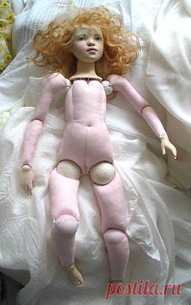 Текстильная шарнирная кукла мастер класс — Мастер класс