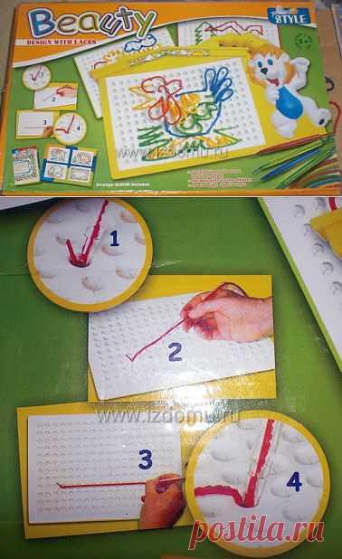 Развивающие шнуровки для детей. Идея