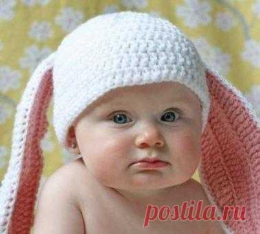 Шапочка для малыша «Зайка»!