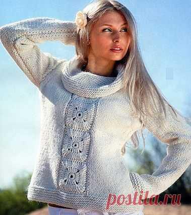 Свитер спицами / Вязание для женщин спицами. Схемы / PassionForum - мастер-классы по рукоделию