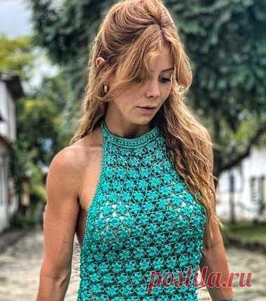 Цветочное настроение от Ванессы Монторо #crochet #вязание_крючком #платье_крючком