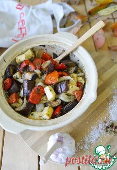 Овощи, запеченные в чесночном маринаде Кулинарный рецепт