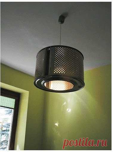 the lamp shade from the washing machine drum