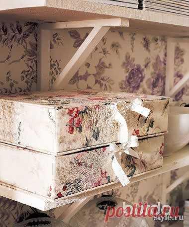 Коробка, обтянутая тканью - Аксессуары для интерьера - Мастер-класс