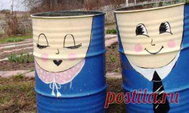 Los barriles pintados: como adornar, en la casa de campo, para el agua, la estampa, el vídeo (10 fotos)