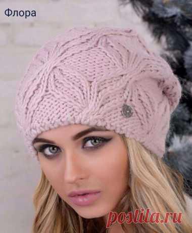 шапка вязаная женская зимняя головной убор коллекция 2017 днепр