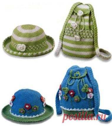 Шляпки и рюкзачки для внучки