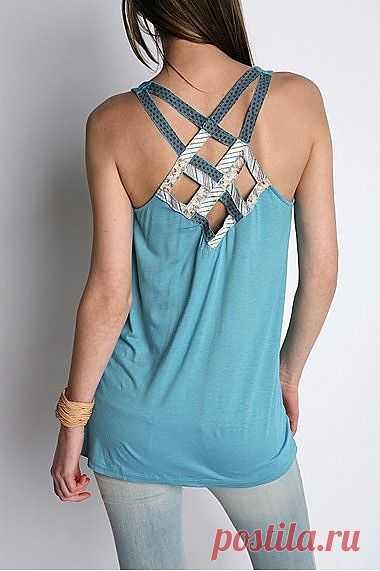 Интересный декор спинки / Декор спины / Модный сайт о стильной переделке одежды и интерьера