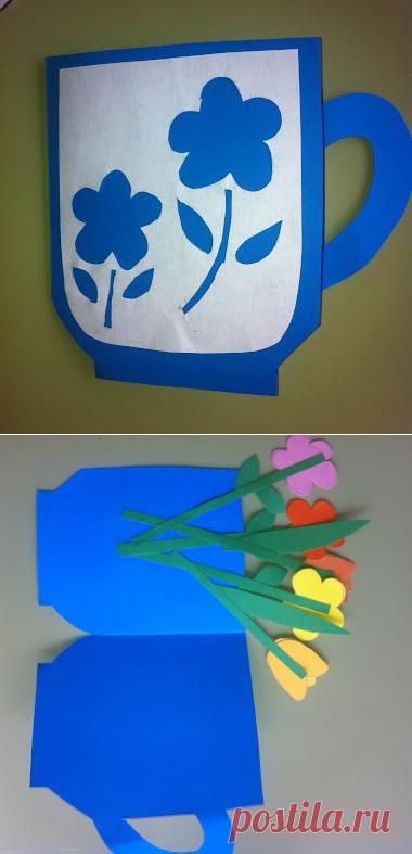 Как сделать открытку для мамы своими руками | Поделки для детей