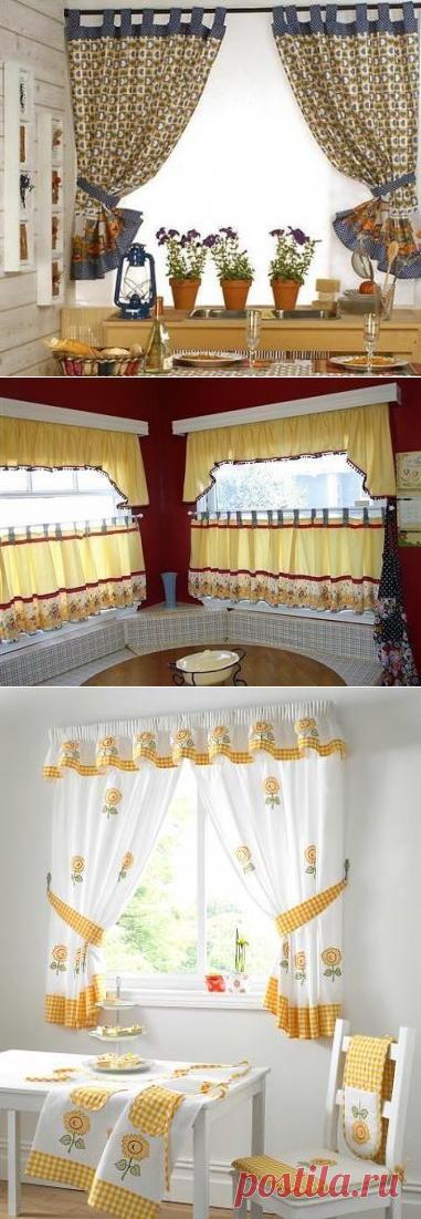 Выкройки штор для кухни — Сделай сам, идеи для творчества - DIY Ideas