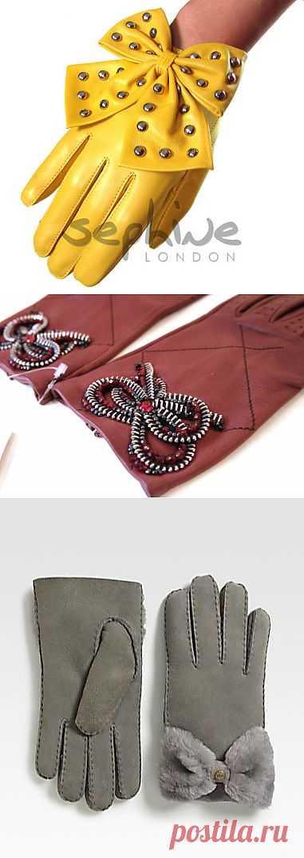 Перчатки с бантиком (подборка) / Перчатки и варежки / Модный сайт о стильной переделке одежды и интерьера