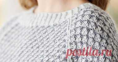 Пуловер двухцветным узором Saltaire - Вяжи.ру