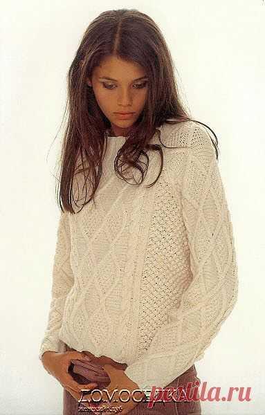 Белый пуловер | ДОМОСЕДКА