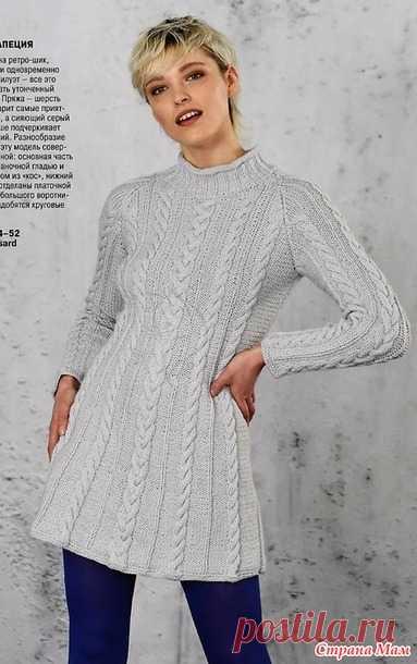 Платье-трапеция с узором вертикальные