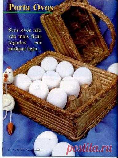 Подставка для яиц. Мастер-класс.