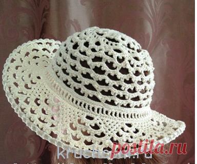 летние шапочки схемы вязания крючком моделей для детей и взрослых