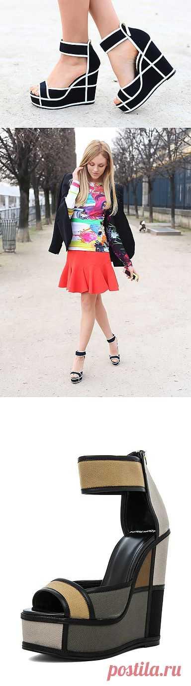 Графичные босоножки / Обувь / Модный сайт о стильной переделке одежды и интерьера