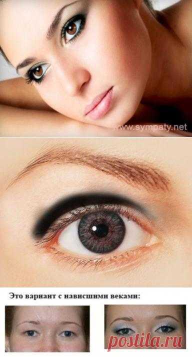 Макияж глаз с нависшими веками: основные хитрости