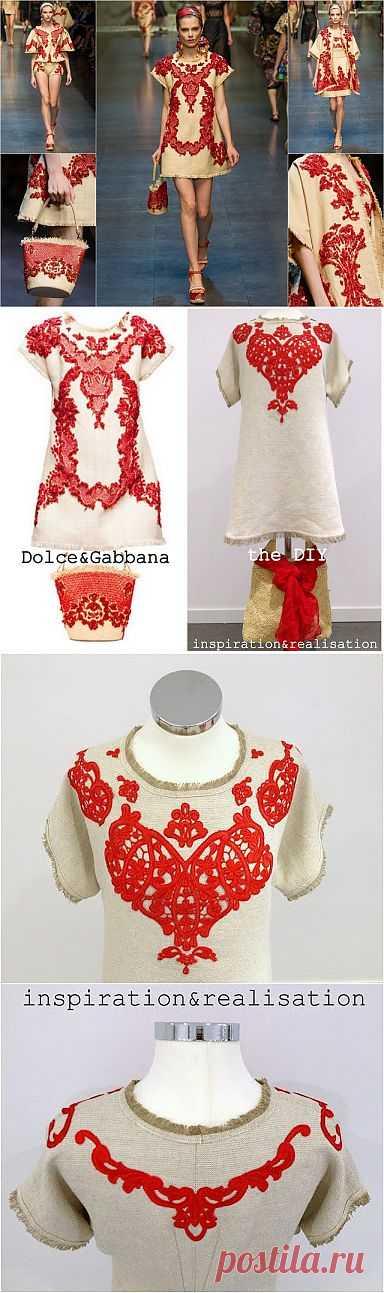 Повтор платья Dolce & Gabbana (DIY) / Платья Diy / Модный сайт о стильной переделке одежды и интерьера