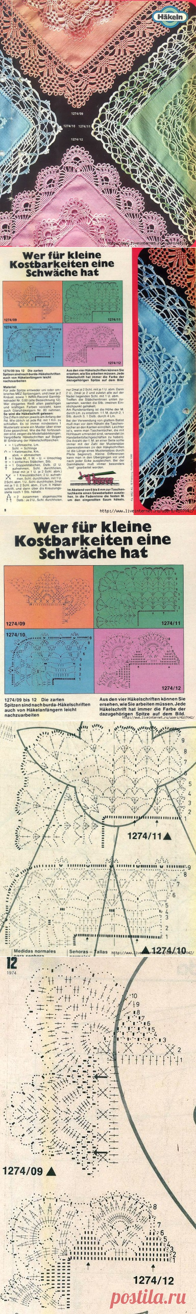KERCHIEFS WITH THE LACY BORDER