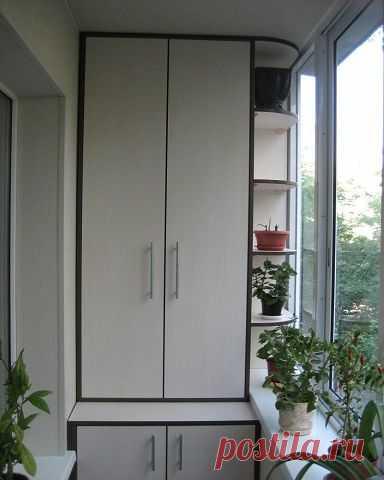 Шкафчики на балконе. Идеи для вдохновения и реализации у себя дома.