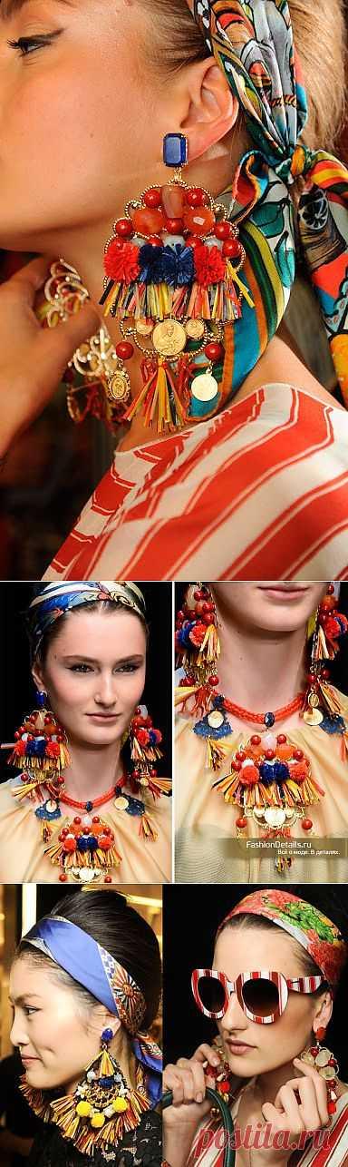Горячие сицилийские серьги (своими руками) / Украшения и бижутерия / Модный сайт о стильной переделке одежды и интерьера