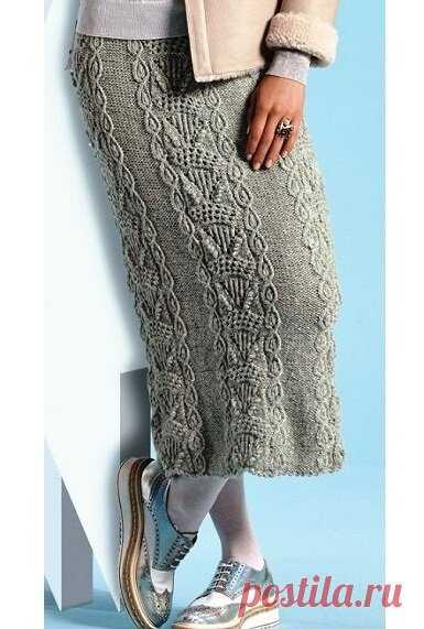 Готовимся к холодам — вяжем красивую длинную юбку (описание) | Идеи рукоделия | Яндекс Дзен