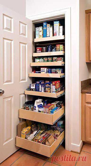 Удобное хранение на кухне. Много идей.