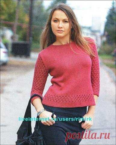 Подборка пуловеров спицами. Пуловеры спицами с описанием.  Пуловер с ажурными косами. Пуловер спицами с воротником хомут. Пуловер женский связанный спицами. Женский пуловер. Пуловер мужской связанный спицами.