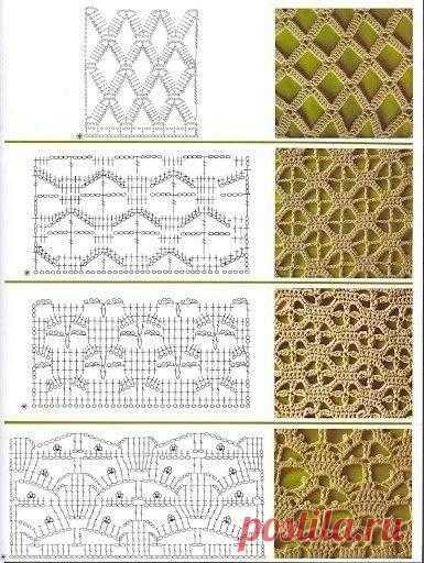 узоры для вязания крючком схемы вязание крючком ажурные узоры схемы