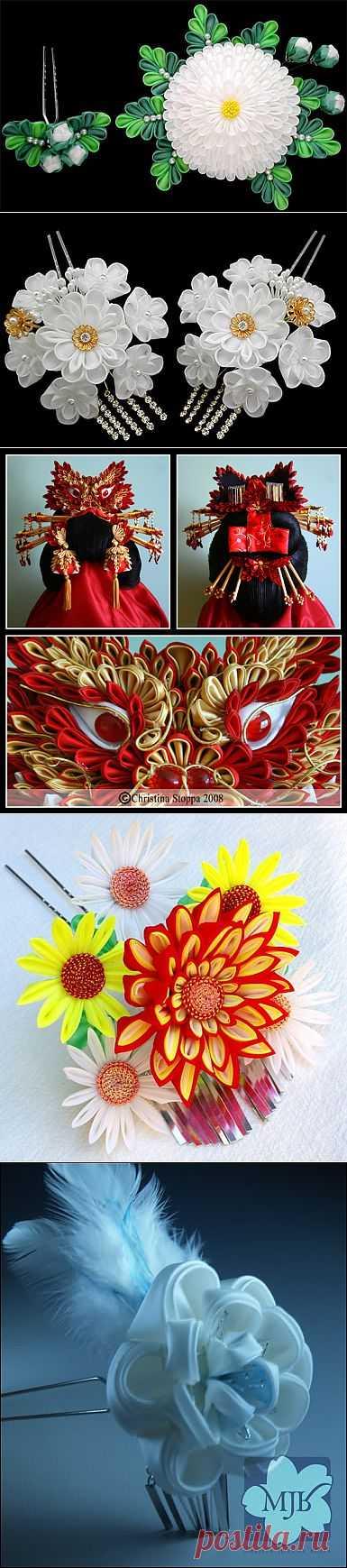 Красота канзаши 2. | Золотые Руки