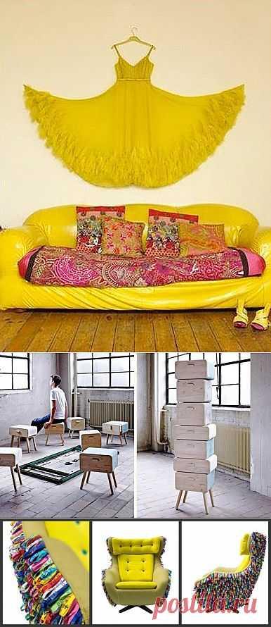 Кучка идей по креативному интерьеру / Арт-объекты / Модный сайт о стильной переделке одежды и интерьера