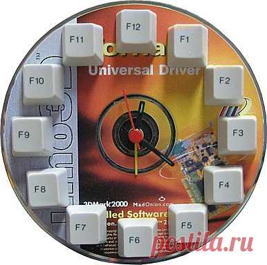 настенные часы (из клавы и DVD)