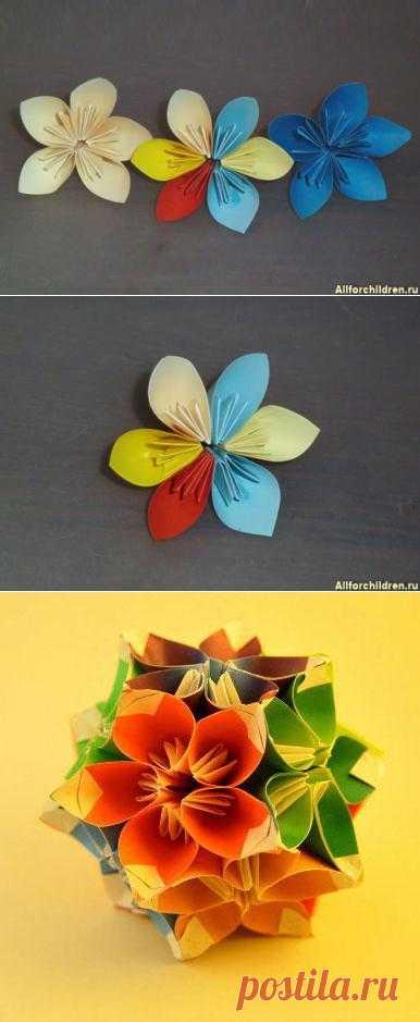 Цветок из бумаги. Что такое кусудамы