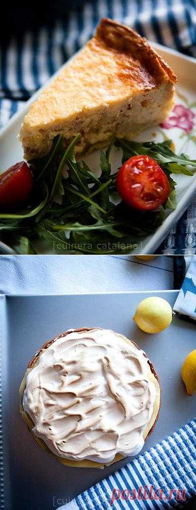Киш и лимонный пирог с меренгой
