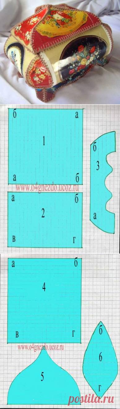 шкатулка из открыток с шаблонами