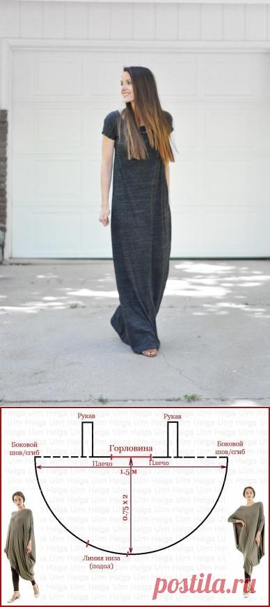 Туника и платье из трикотажа своими руками (выкройки)   Рукоделие