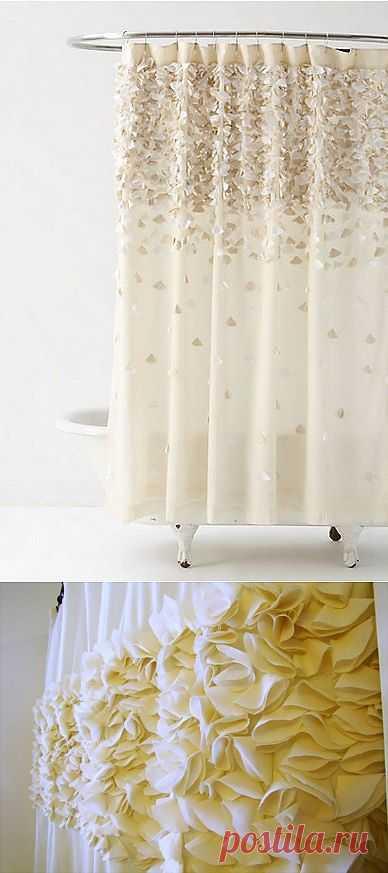Душевая шторка с лепестками (Diy) / Ванна / Модный сайт о стильной переделке одежды и интерьера